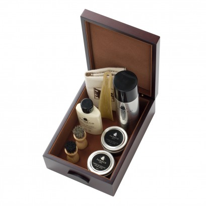 Famaco Shoe Care Kit Rose Wood Box