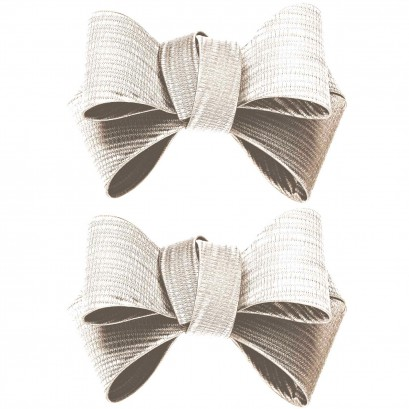 Shoe Clips White Triple Bow