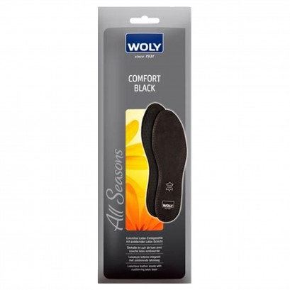 Woly Comfort Black Insoles Select Size