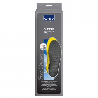Woly Summer Odour Stop Footbed Insoles Select Size
