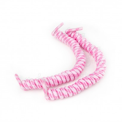 Duo Pink No Tie Laces: Curly Shoelaces