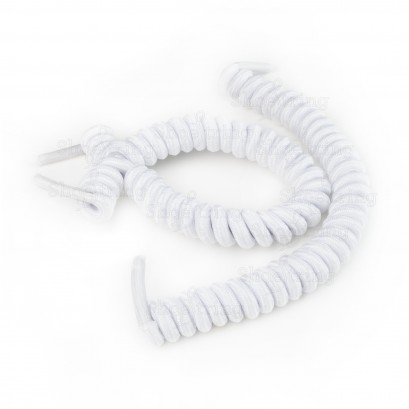 White No Tie Laces: Curly Shoelaces