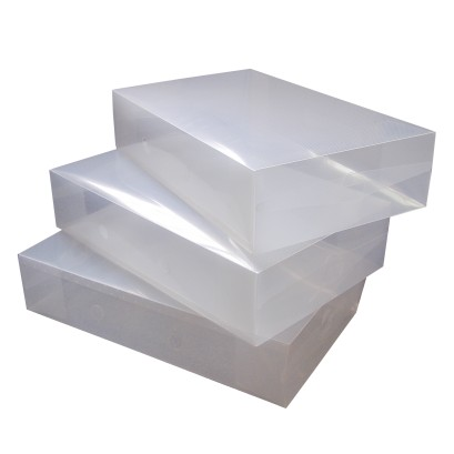 Shoe String Clear Boot Box Pack 3 Units
