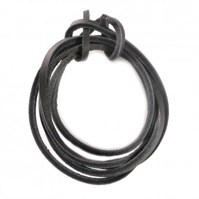 Black 120cm Leather