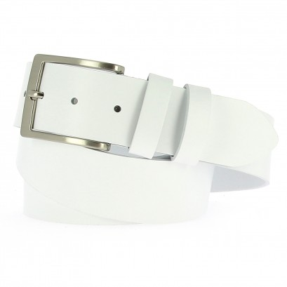 Belts Leather 40mm Jean White 130cm