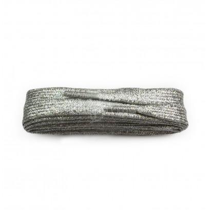 Sneaker Silver Metallic 100cm Flat Laces