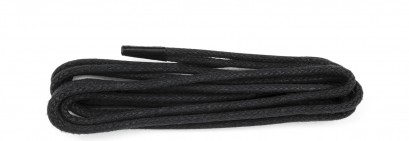 Black Wax Polished Fine Round Laces