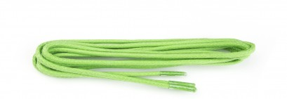 Lime Green Wax Polished Fine Round Laces