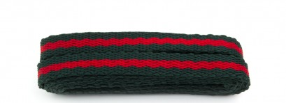 Sneaker Green And Red Stripe Laces