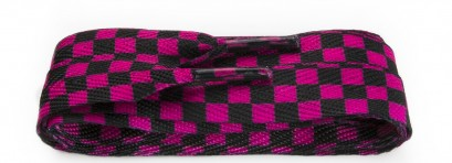 Sneaker Black/pink Check Wide
