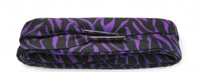 Sneaker Purple/black Zebra Wide Laces