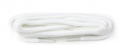 White Round Cord Laces Select Length