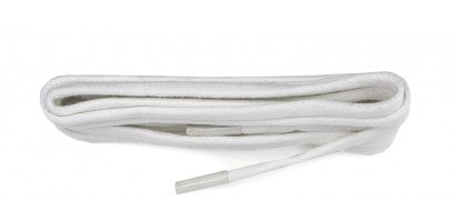 White Chunky Wax Laces 5mm