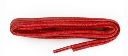 Red Chunky Wax Laces 5mm