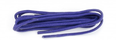 Royal Blue Wax Polished Fine Round Laces