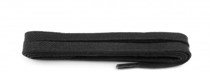 Black 75cm Wax 3mm Flat Laces
