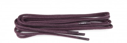 Bordeaux Wax Polished Fine Round Laces