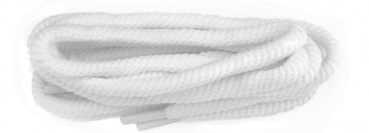 White Polyvelt Twist Laces 6mm