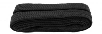 Black Flat Block Laces