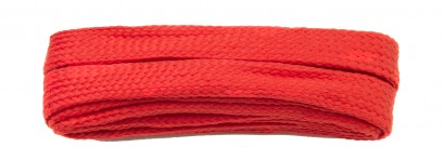 Red Flat Block Laces