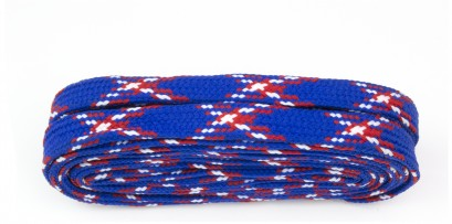 Walking 180cm Tartan Blue Flat Laces