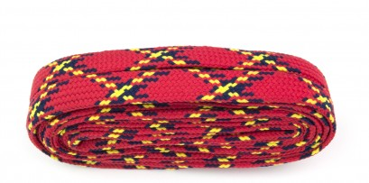 Walking 180cm Tartan Red Flat 10mm Laces