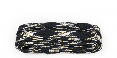 Walking Black/white/gold Checked Laces