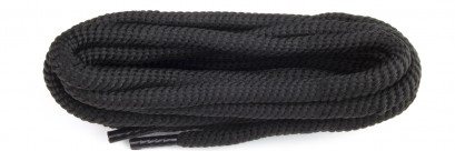 Black Polyvelt Twist Laces 6mm