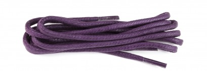 Purple 75cm Waxed 3mm Round Laces
