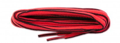 Red/black Edge Oval Sports Laces