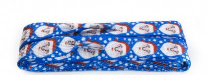 Fashion Christmas Blue Santa 100cm Wide Flat