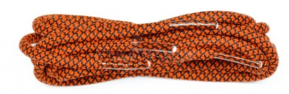 Orange-black 120cm Honeycomb Rope Laces