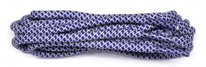 Cobalt-white Honeycomb Rope Laces 120cm