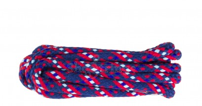 Hiking 75cm Blu/red/pblu Fleck Laces