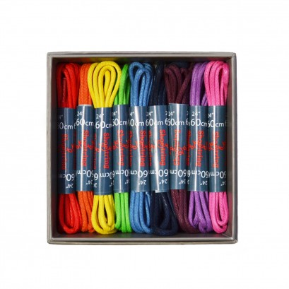 Shoestring Wax 2mm 75cm Shoe Laces Boxed 9 Pairs
