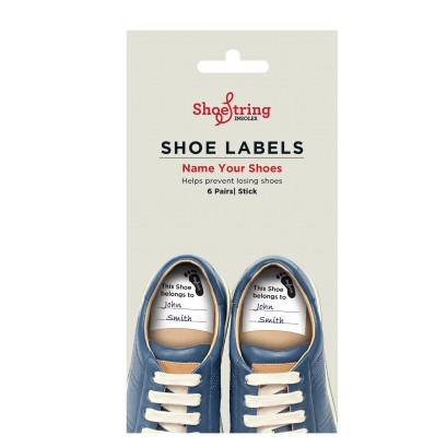 Shoestring Shoe Labels Pack Of 6