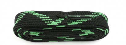 Black/flo Green Fat Laces