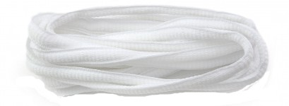 White Oval Laces 6mm  Select Length