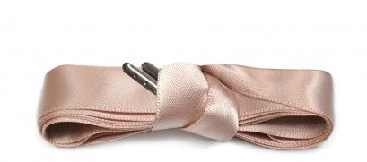 Dusty Pink Ribbon Laces Metal Aglet