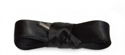 Black Ribbon Laces Metal Aglet