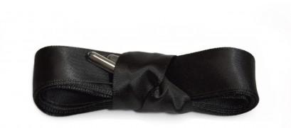 Black Ribbon Laces Metal Aglet