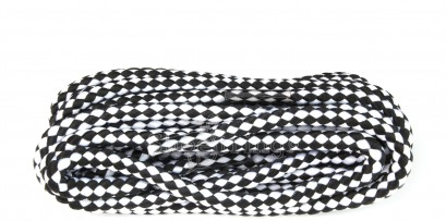 Black/white Hiking Cord Laces