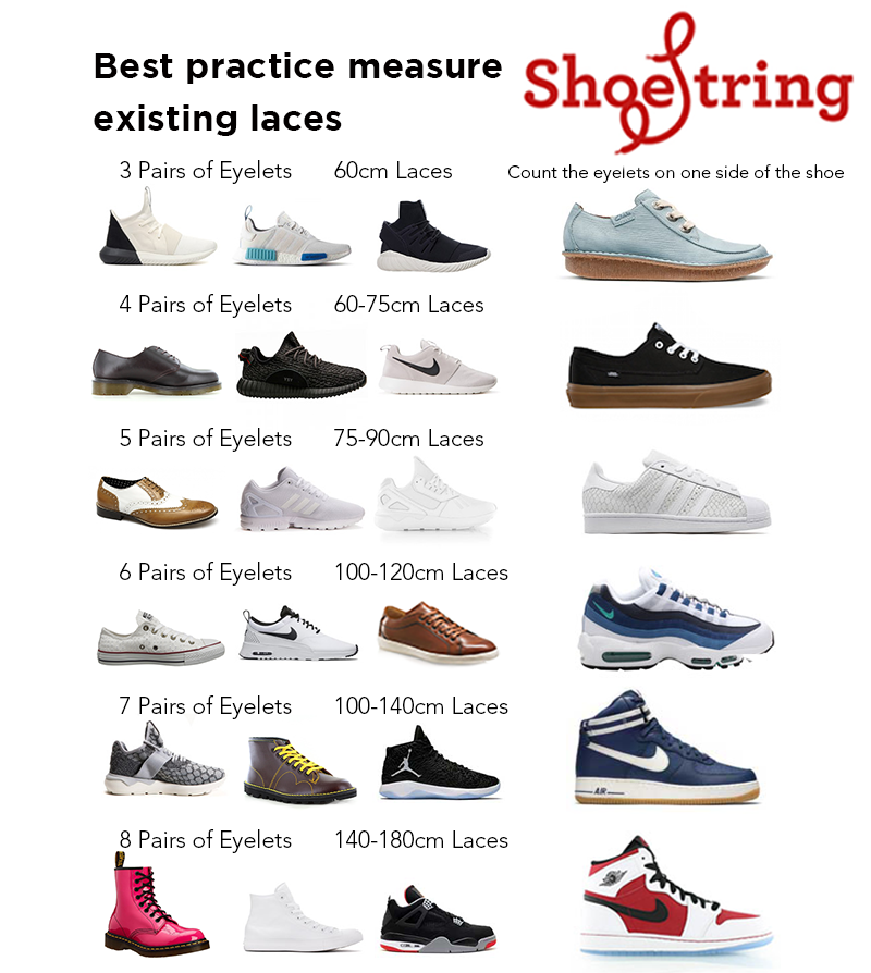 Shoe Lace Size Guide