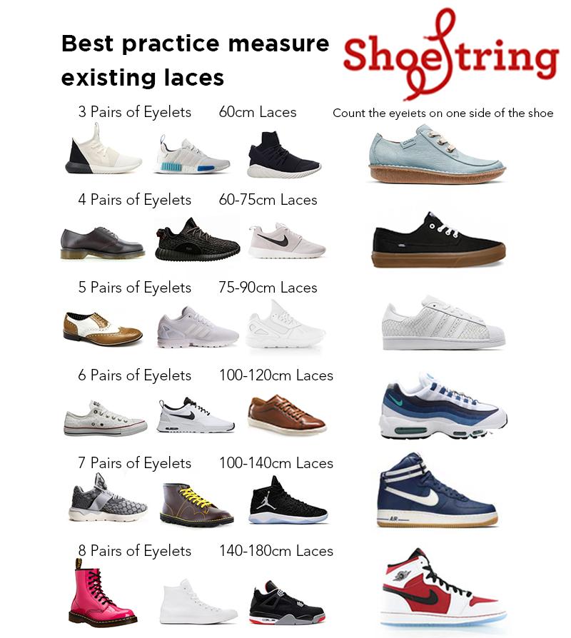 Shoe Lace Size Guide